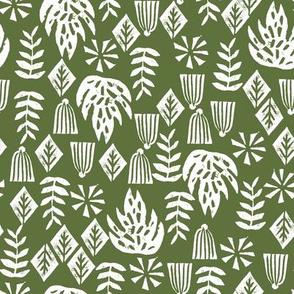 palm print // green palms tropical summer palm print linocut kids palm print