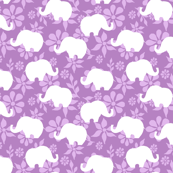 Pink and White Elephant Repeat