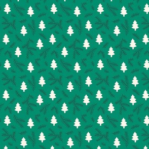 Christmas pine trees on green (small)