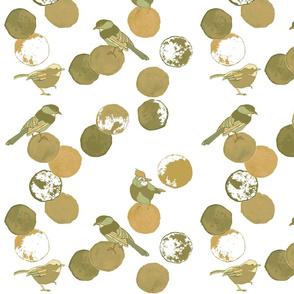Birds & Dots Chartruese