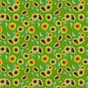 sunflower_repeat_green