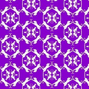 Cats & Dogs Damask - Purple
