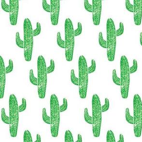 Linocut Cacti Pattern