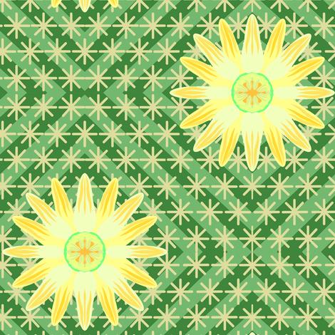Yellow Log Cabin Cactus Flower