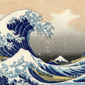 Great Wave Off Kanagawa(42 x28 in)