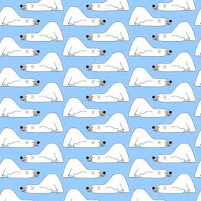 Funny Cartoon Polar Bear Blue by Cheerful Madness!!Small-ed