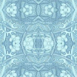 Floral Scallop Blues