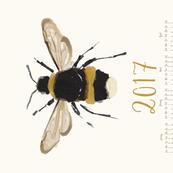 Bumble bee - 2017 calendar // sew your own calendar