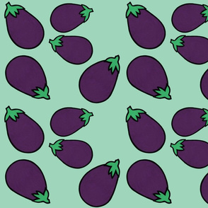 Eggplants in Mint