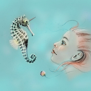 The Mermaid and the Unicorn - color