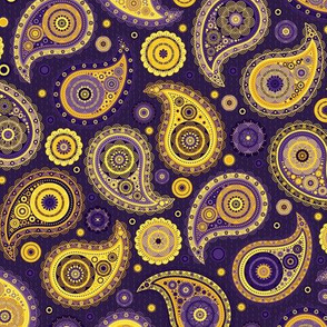 Poppin' Paisley - Purples & Golds