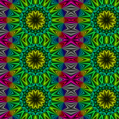 Rainbow Green Kaleidoscope