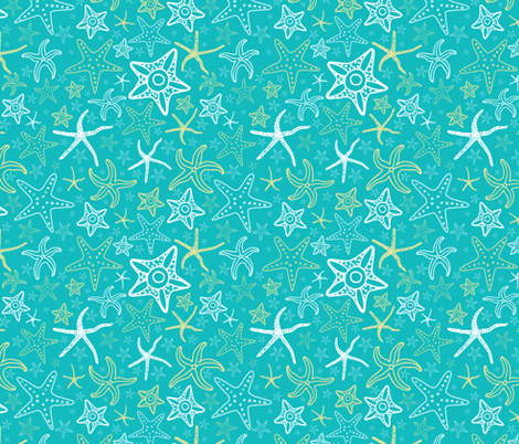 Star fish pattern darker fabric carolinacotoart for Star design fabric