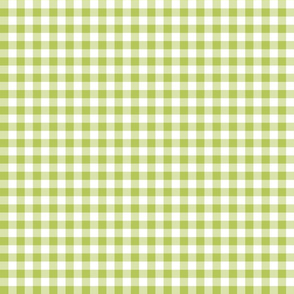 Mini Gingham Green Apple