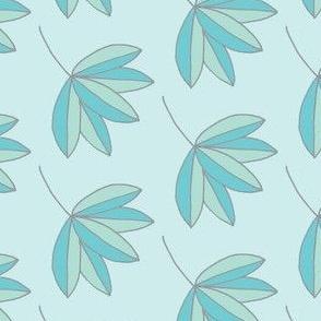 pastel teal palm