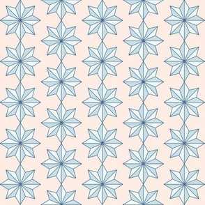 Star Tiles Soft Blue and Nude