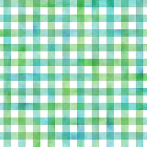 watercolor gingham