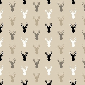 Deer - half scale - midnight woodland-