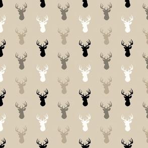 Deer - half scale - midnight woodland-