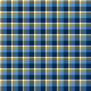 Gold and Blue Plaid