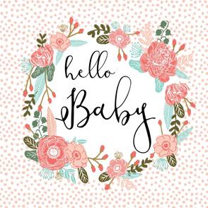 hello baby blanket girls sweet florals nursery baby