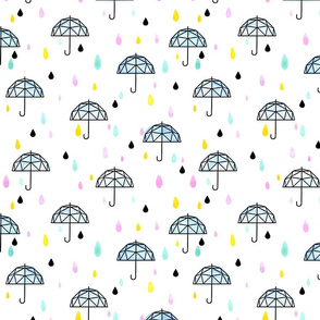 Geometric Umbrella Small // rain girl boy baby shower gender reveal neutral trendy cute pastel tamara arcilla