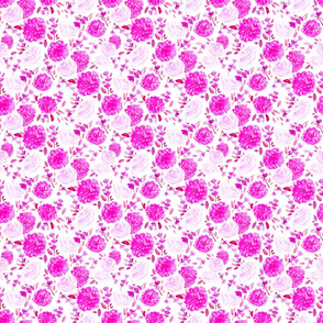 Pink Floral Small // spring, modern, trendy, fuchsia, cherry blossom, rose, vintage, girly