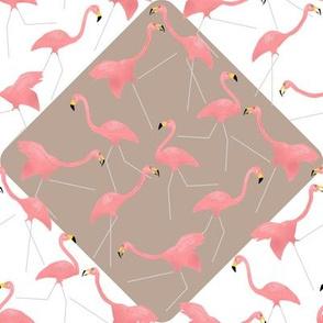 Lawn Flamingo Tango Pink 2 on Diamonds