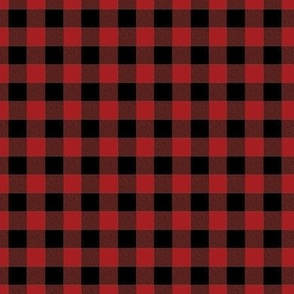 Tiny Buffalo Check Flannel Red Black