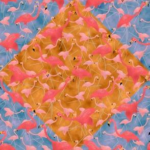 Lawn Flamingo Hot Pink 8 on Diamonds