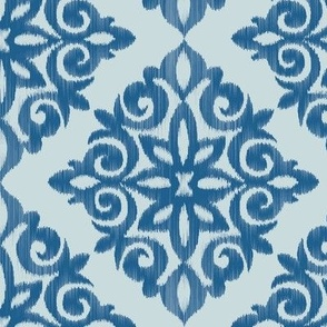 Modern Damask in Blue