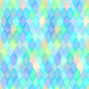 mermaid tail, scale, abstract geometric Scandinavian pattern aqua blue turquoise