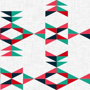 Aztec (blue and red)