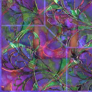 Tapestry in Purple & Jade