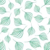 Swirling leaves   Dark sea green