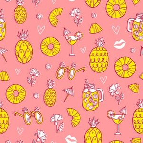 Pineapple mood on pink