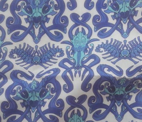 Monster Damask (blue)