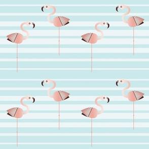 Flamingo Faster (sea stripe)