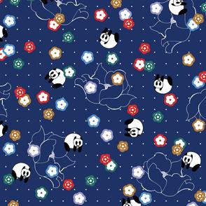 Pegboard Panda Navy