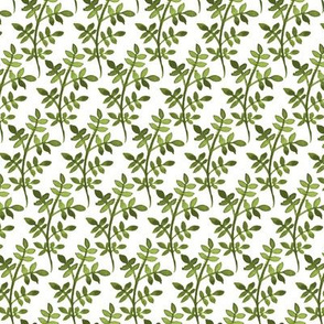 Green watercolor floral pattern