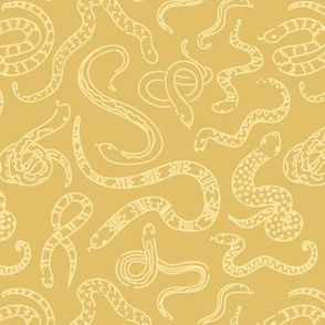 Snake Outlines - Gold