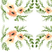 Peach Watercolor Floral