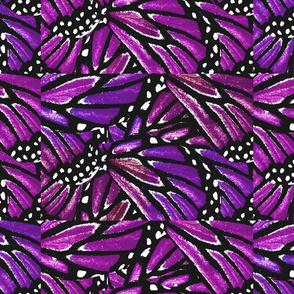Butterfly Wings in Purples