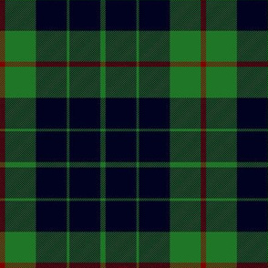 Gunn tartan, black on green
