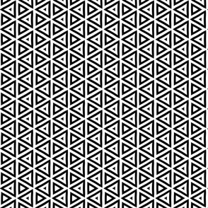 Geometric Black and White Triangle Pattern