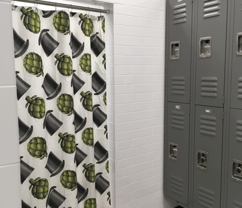 Neuman's Kitchen shower curtains