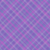 Geometric Plaid Matrix in Periwinkle Purple with Pink and Teal