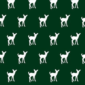 fawn (small scale) - forest green || holiday