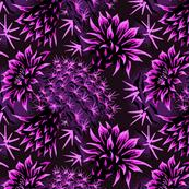 Cactus Floral - Purple