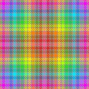 tartan : 12 rainbow crayons